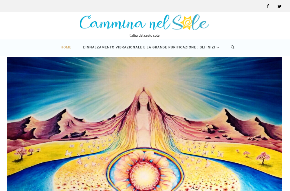 camminanelsole.com screen